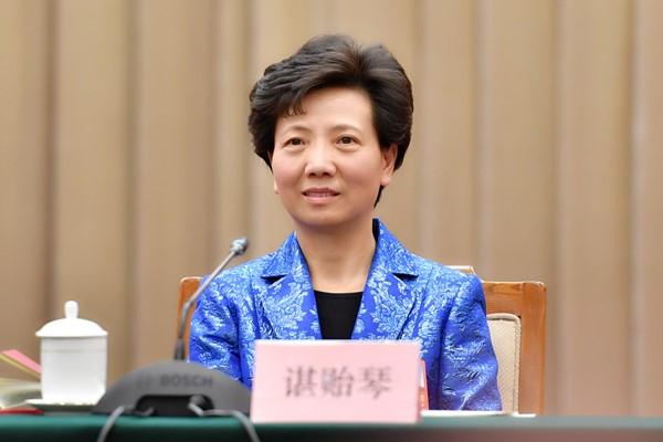 全国人大代表、贵州省委副书记、省长谌贻琴发言