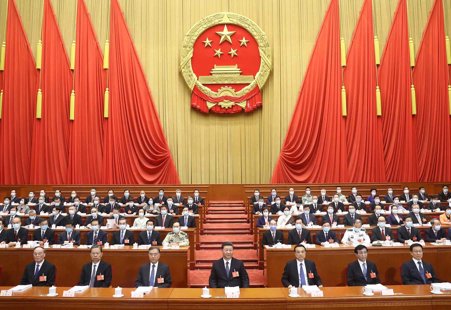十三届全国人大三次会议在北京开幕。新华社记者 鞠鹏 摄