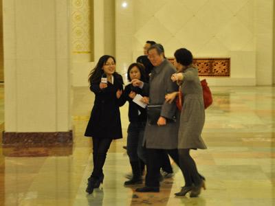 周小川/各媒体记者围堵中国人民银行行长周小川